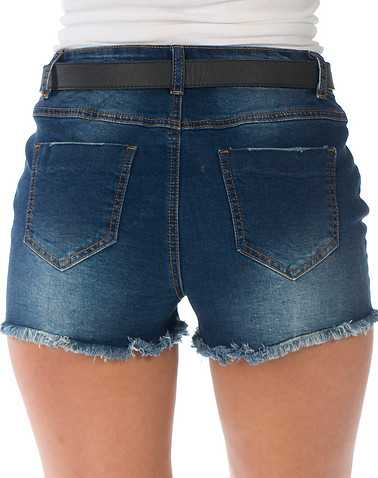 BOOM BOOM JEANS WOMENS Dark Blue Clothing / Denim Shorts