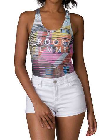 CROOKS AND CASTLES WOMENS Multi-Color Clothing / Tank Tops L