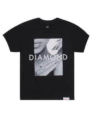 DIAMOND SUPPLY COMPANY MENS Black Clothing / Tees and Polos S
