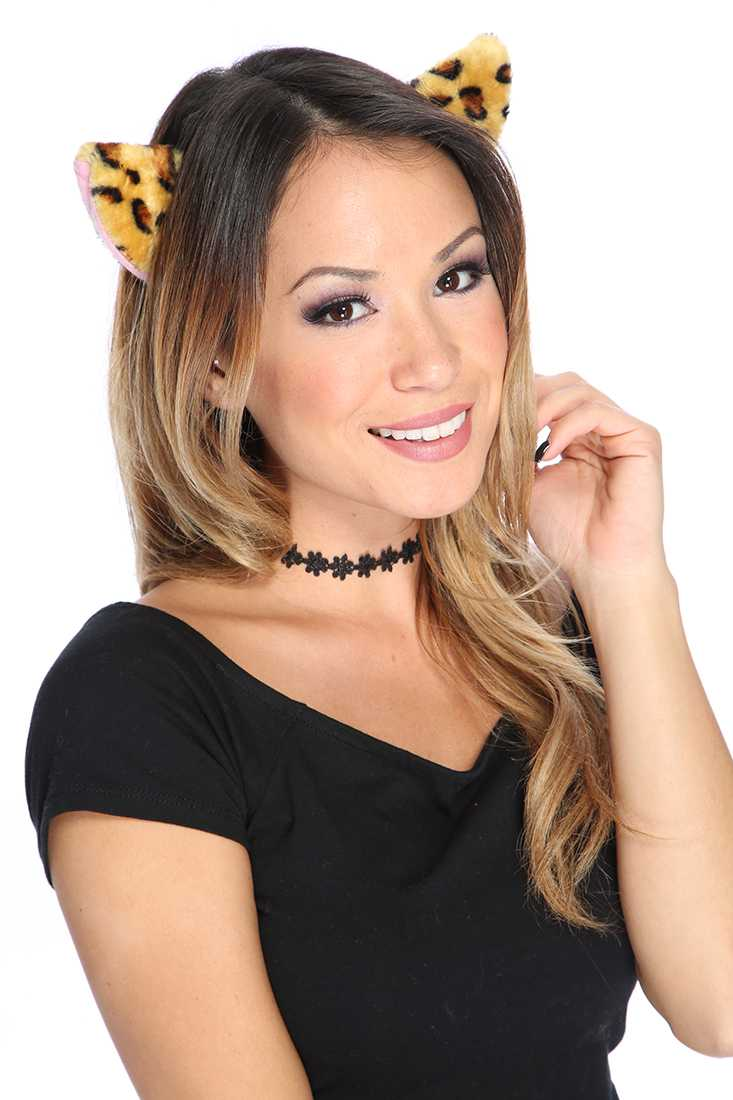 Leopard Head Band Costume Accessories