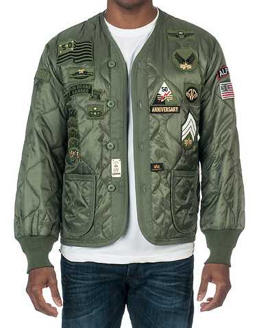 ALPHA MENS Green Clothing / Outerwear L