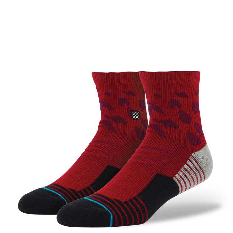 Stance Cheets Qtr RED S/M FUSION ATHLETIC Socks