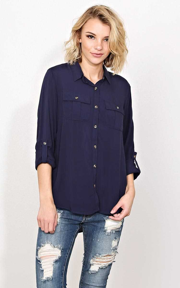 Rissa Woven Button Up Shirt - in Size by Styles For Less