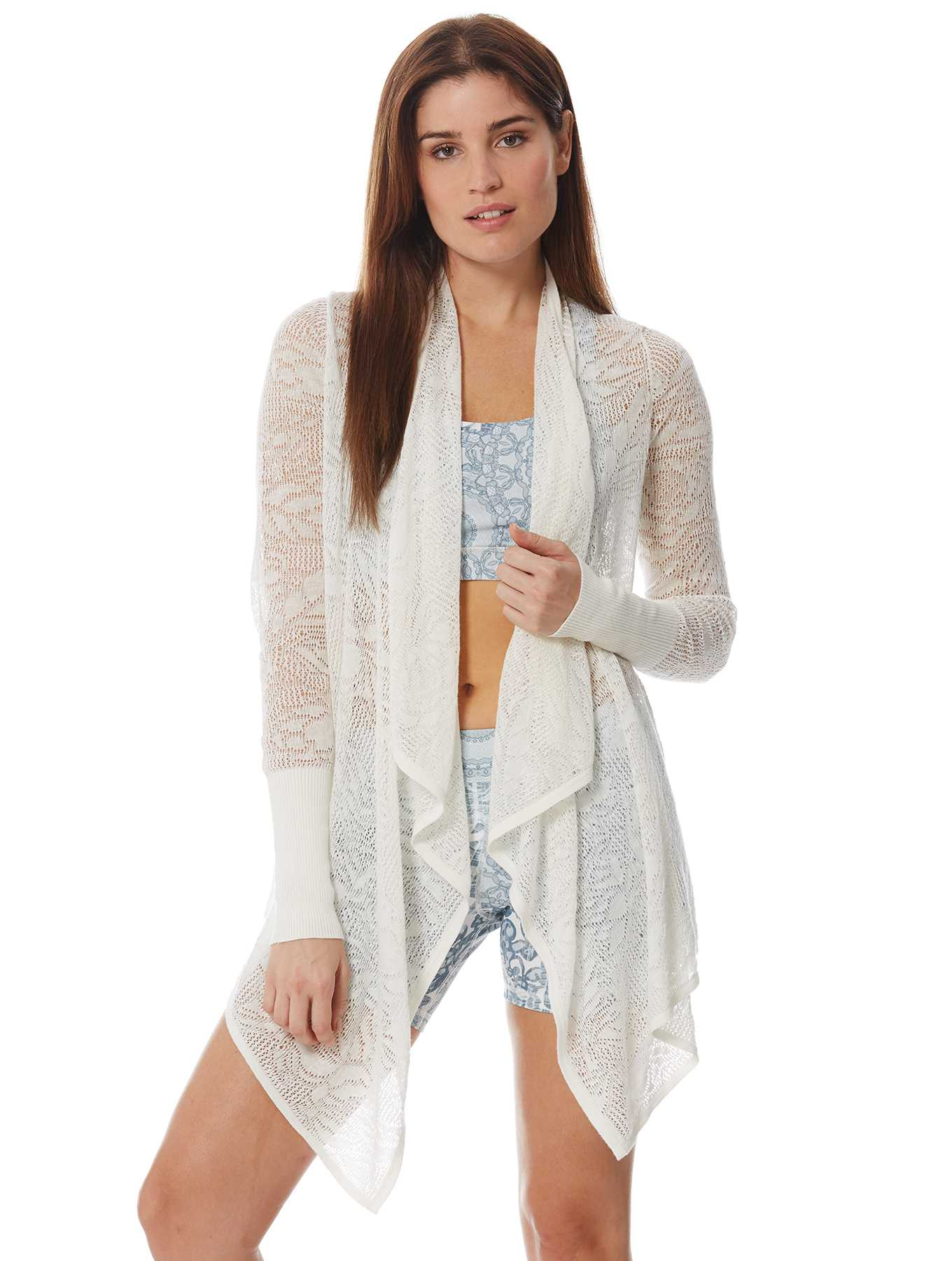 Peony Open Floral Jacquard Cardigan