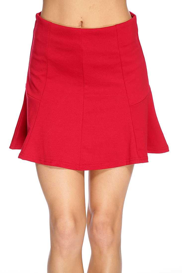 Red Chic Skater Skirt