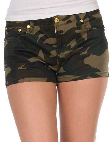 ESSENTIALS WOMENS Brown Clothing / Casual Shorts 5