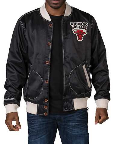 MITCHELL AND NESS MENS Black Clothing / Outerwear L