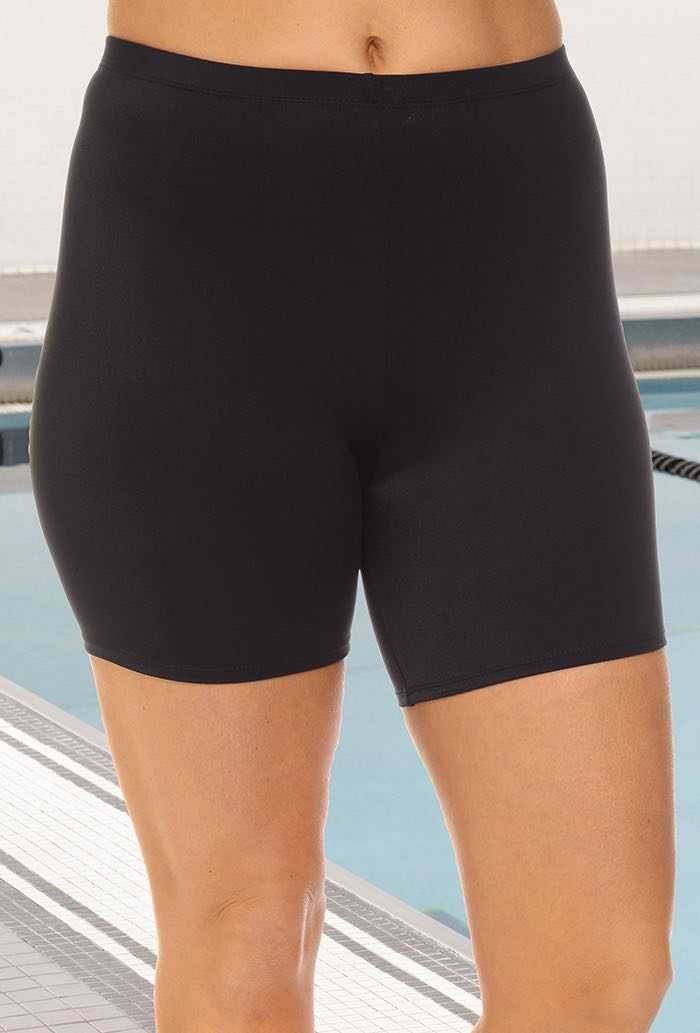 Chlorine Resistant Black Bike Short