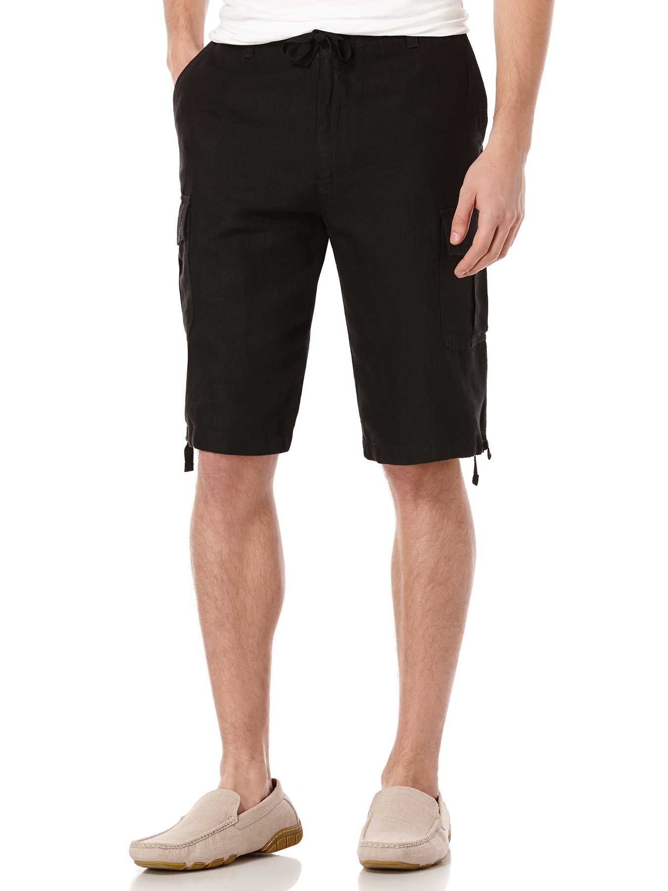 Perry Ellis Linen Cotton Drawstring Cargo Short