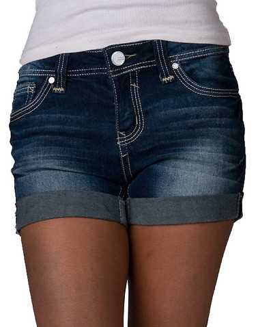 ESSENTIALS WOMENS Dark Blue Clothing / Denim Shorts