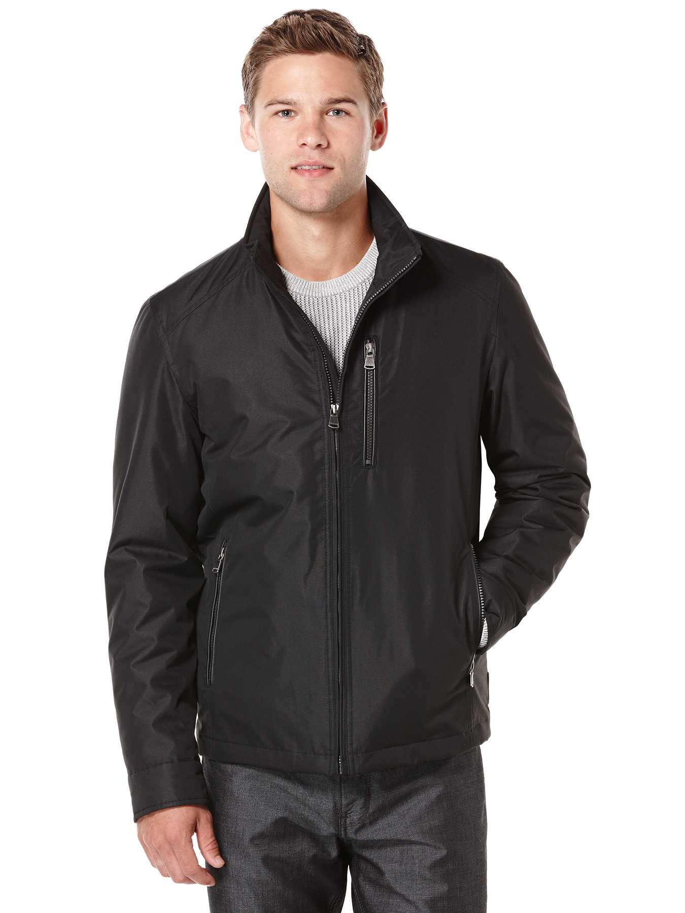 Perry Ellis Dobby Tech Portfolio Jacket