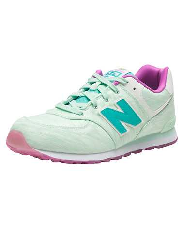 NEW BALANCE GIRLS Green Footwear / Sneakers