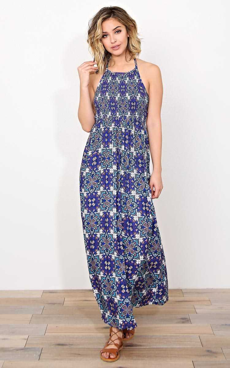 Boho Spring Woven Maxi Dress - LGE - Combo in Size Large by Styles For Less
