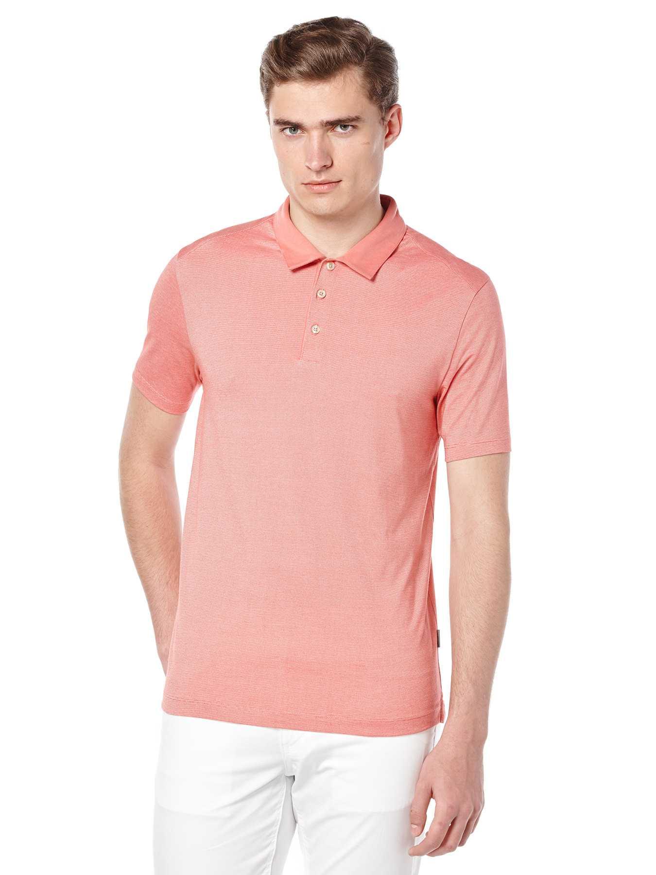 Perry Ellis Short Sleeve Thin Stripe Polo
