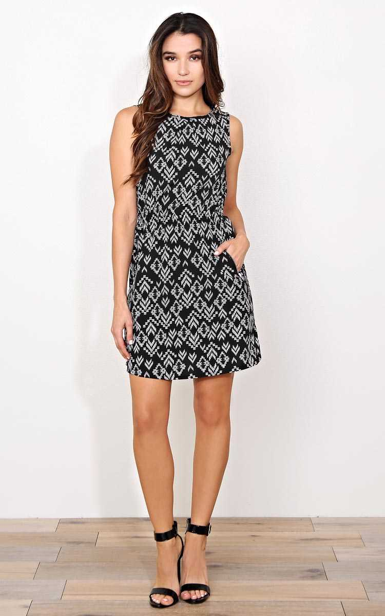 Cheyenne Woven dress - - Black Combo in Size by Styles For Less