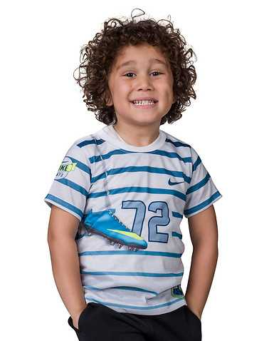 NIKE BOYS White Clothing / Short Sleeve T-Shirts L / 6