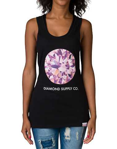DIAMOND SUPPLY WOMEN WOMENS Black Clothing / Tank Tops L