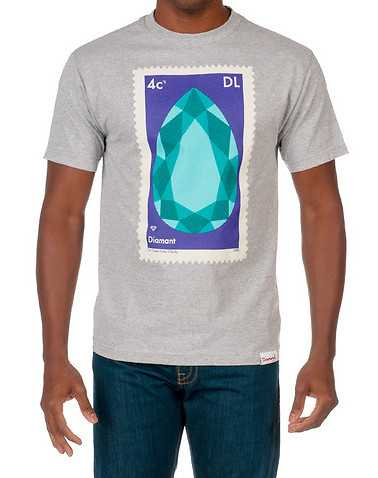 DIAMOND SUPPLY COMPANY MENS Grey Clothing / Tops S