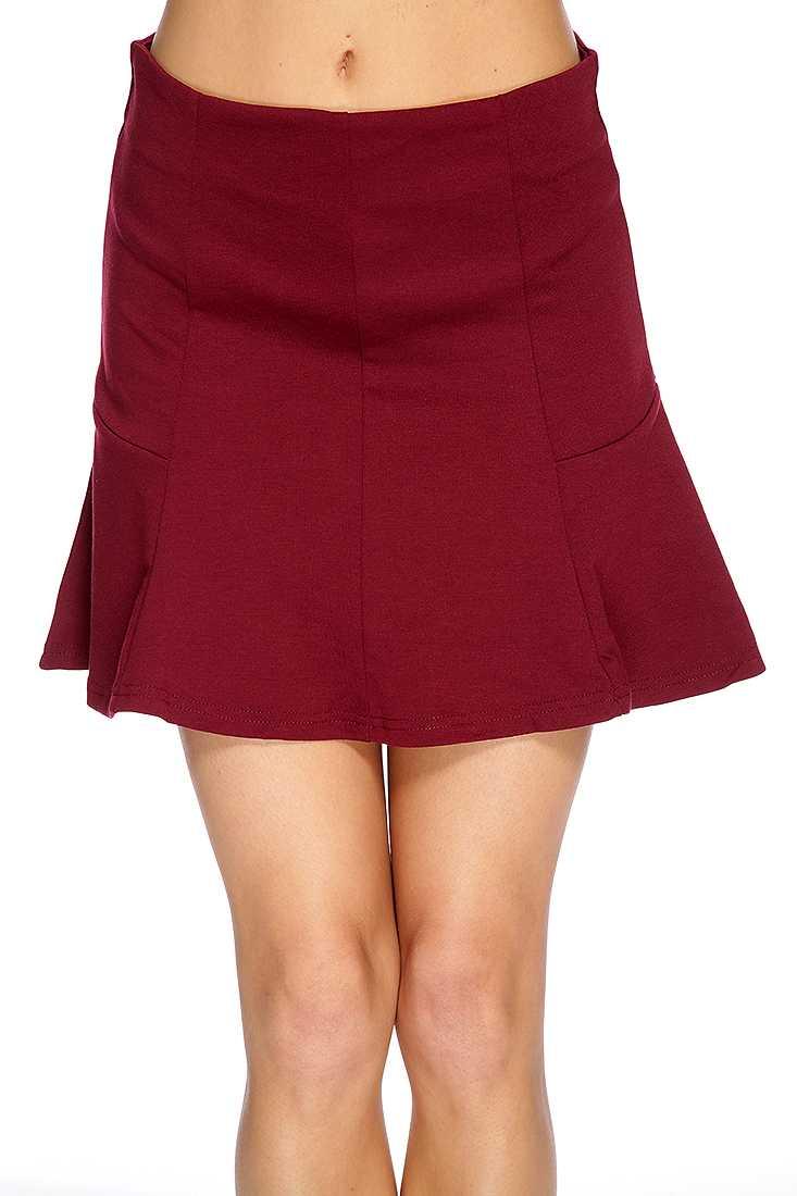 Maroon Chic Skater Skirt