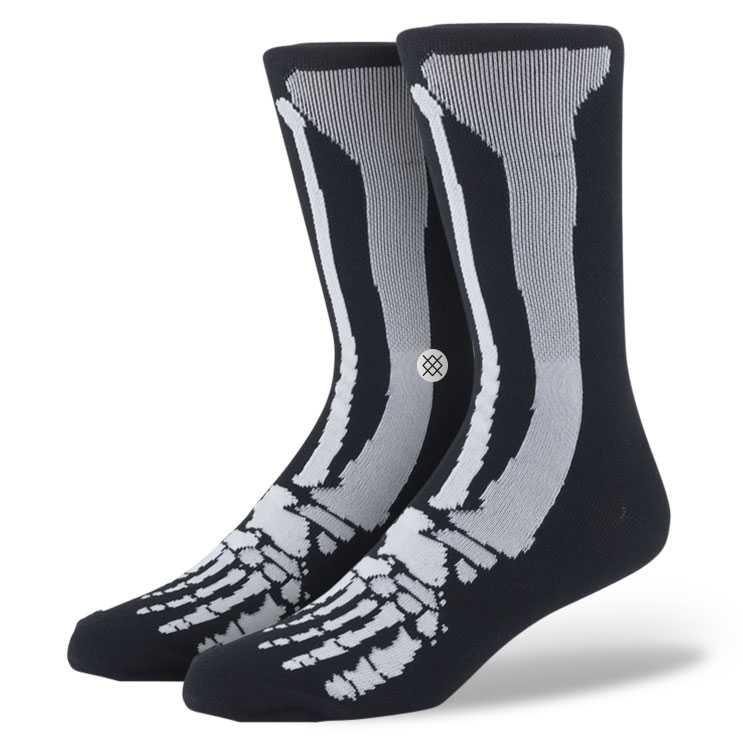 Stance Old Bones Boys Black BOYS Socks