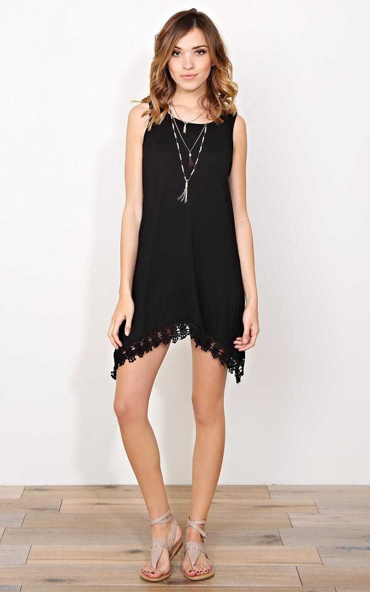 Natalia Knit Shift Dress - - Black in Size by Styles For Less