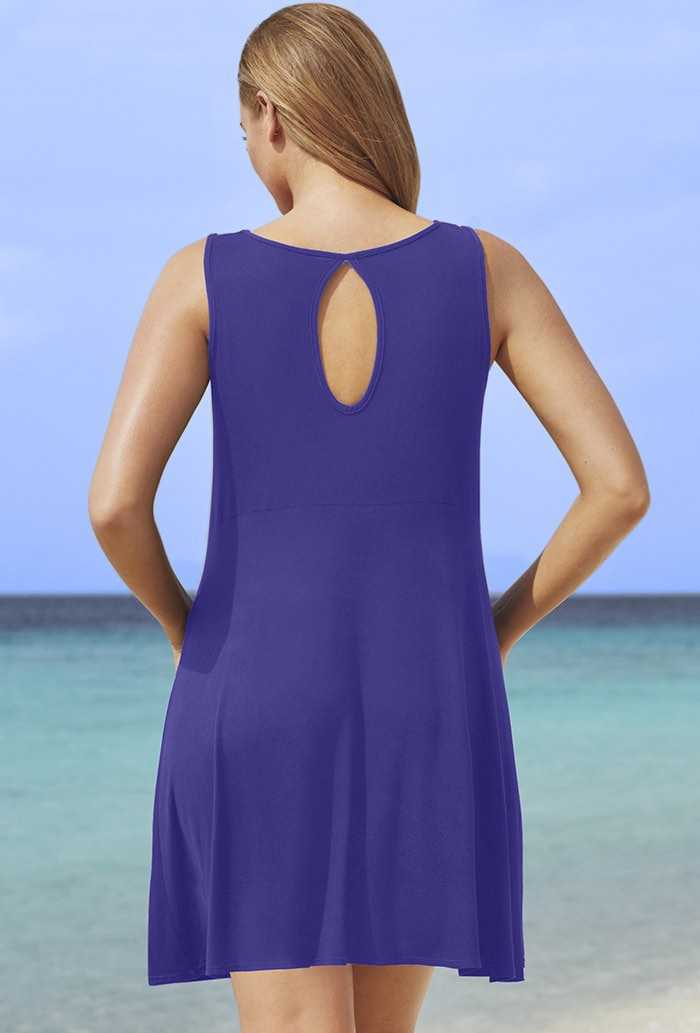 Blue Violet Window Dress