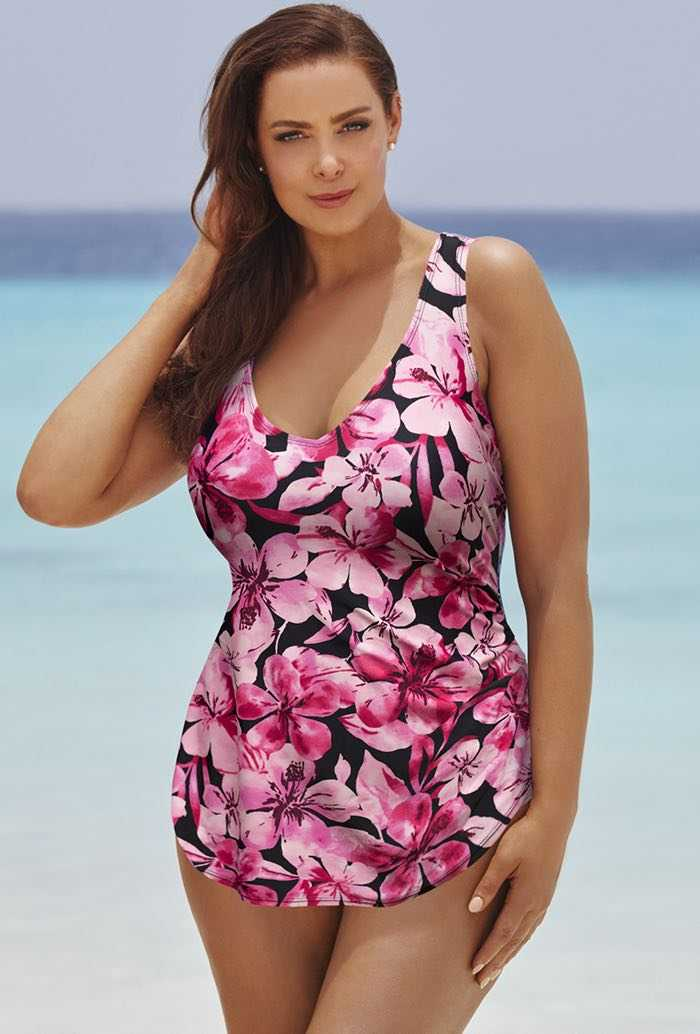 Honolulu Pink Sarong Front Swimsuit