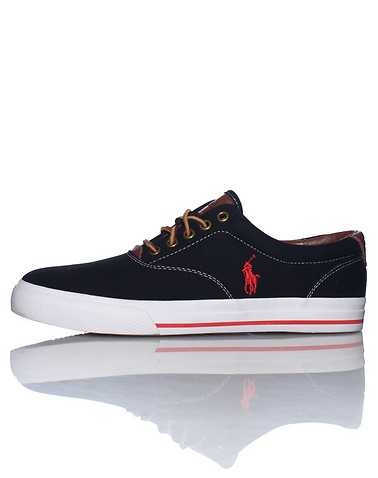 POLO FOOTWEAR MENS Black Footwear / Sneakers 8.5