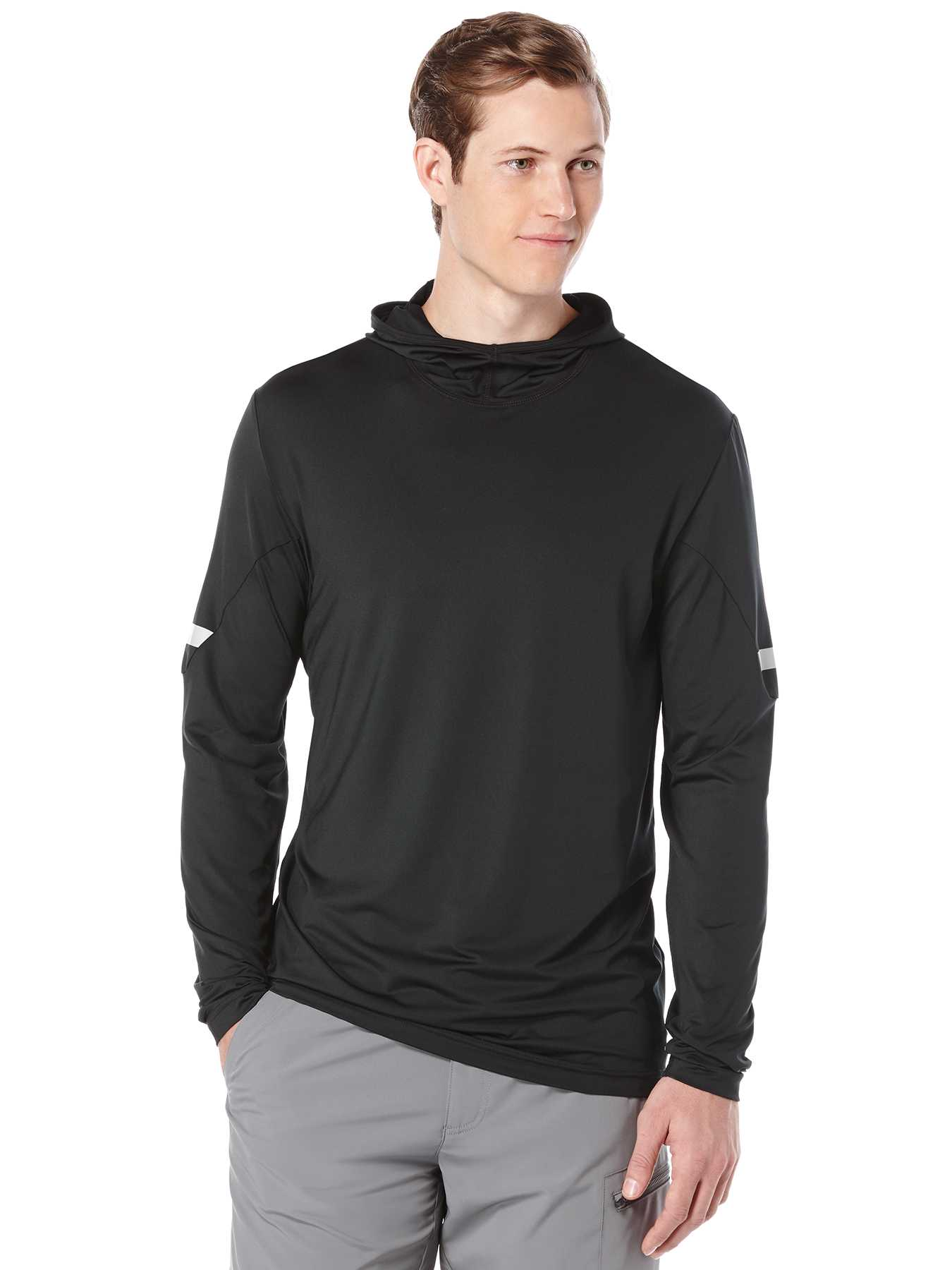 Perry Ellis Long Sleeve Hood Pullover