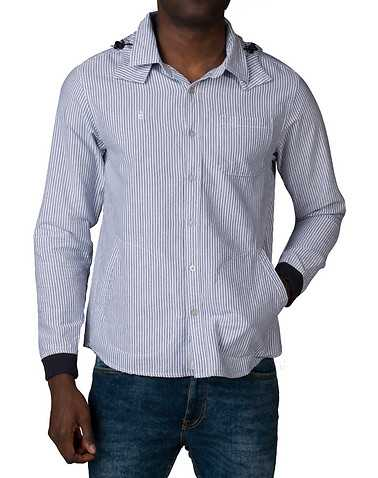 DIAMOND SUPPLY COMPANYENS Blue Clothing / Button Down Shirts