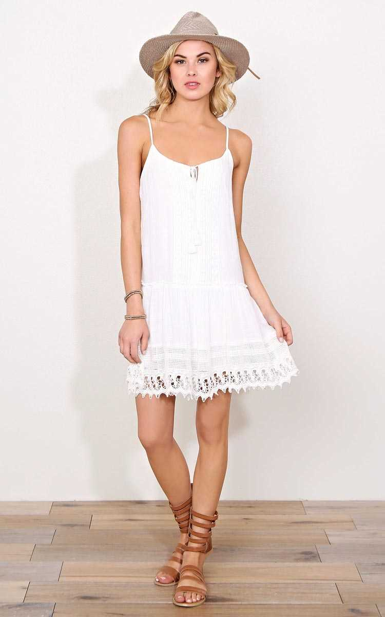 Gypsy Energy Woven Dress - XLGE - White in Size X-Large by Styles For Less