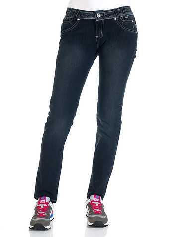 ESSENTIALS WOMENS Dark Blue Clothing / Jeans