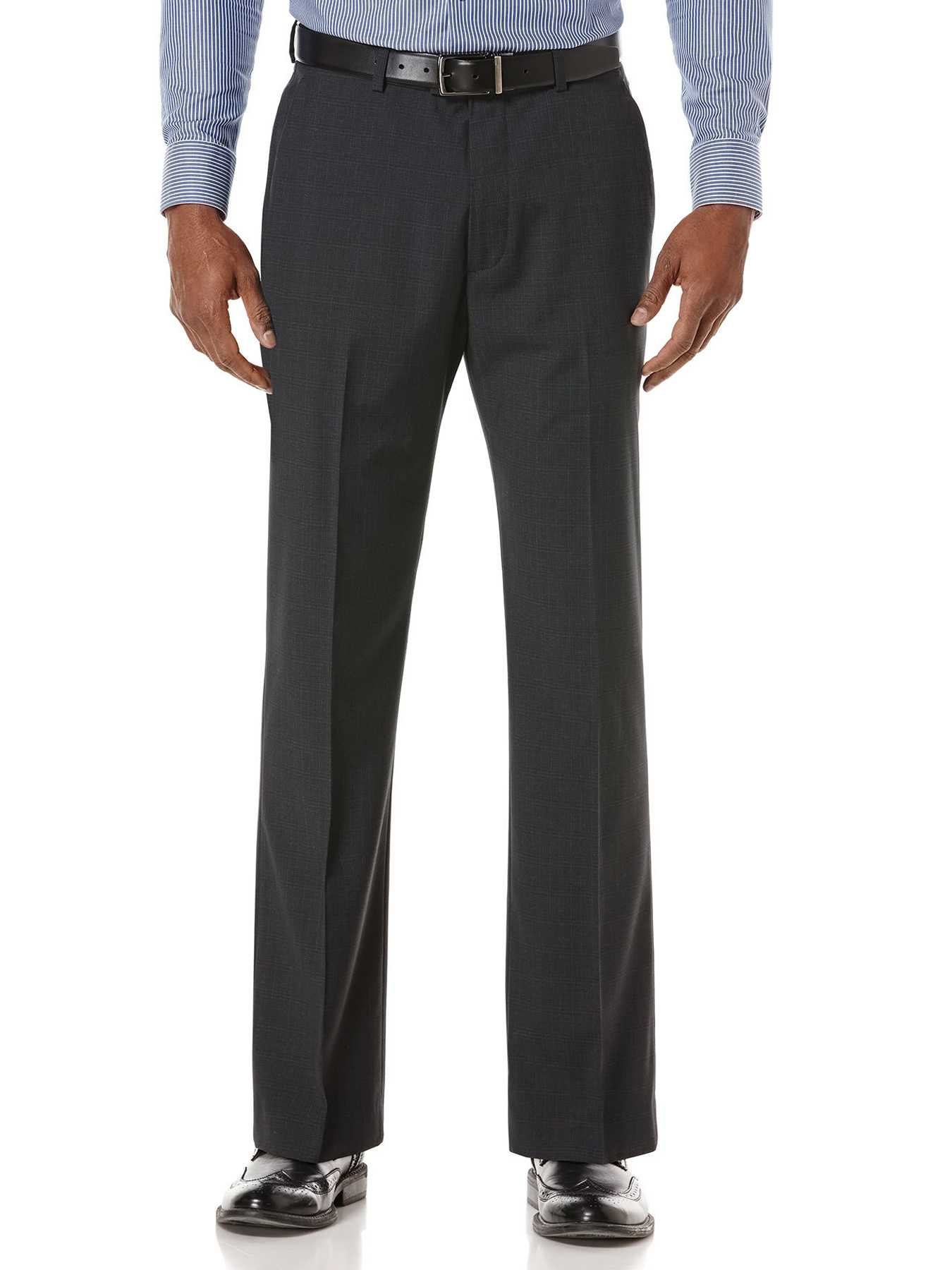 Perry Ellis Tonal Small Plaid Dress Pant