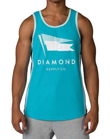 DIAMOND SUPPLY COMPANYENSedium Green Clothing / Tank Tops