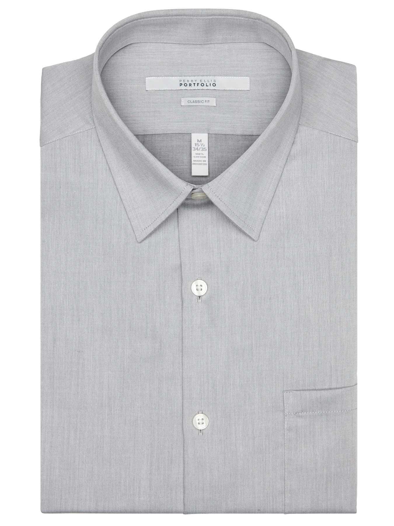 Perry Ellis Classic Fit Twill Portfolio Dress Shirt