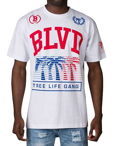 BLVD SUPPLY MENS White Clothing / Tops XXL