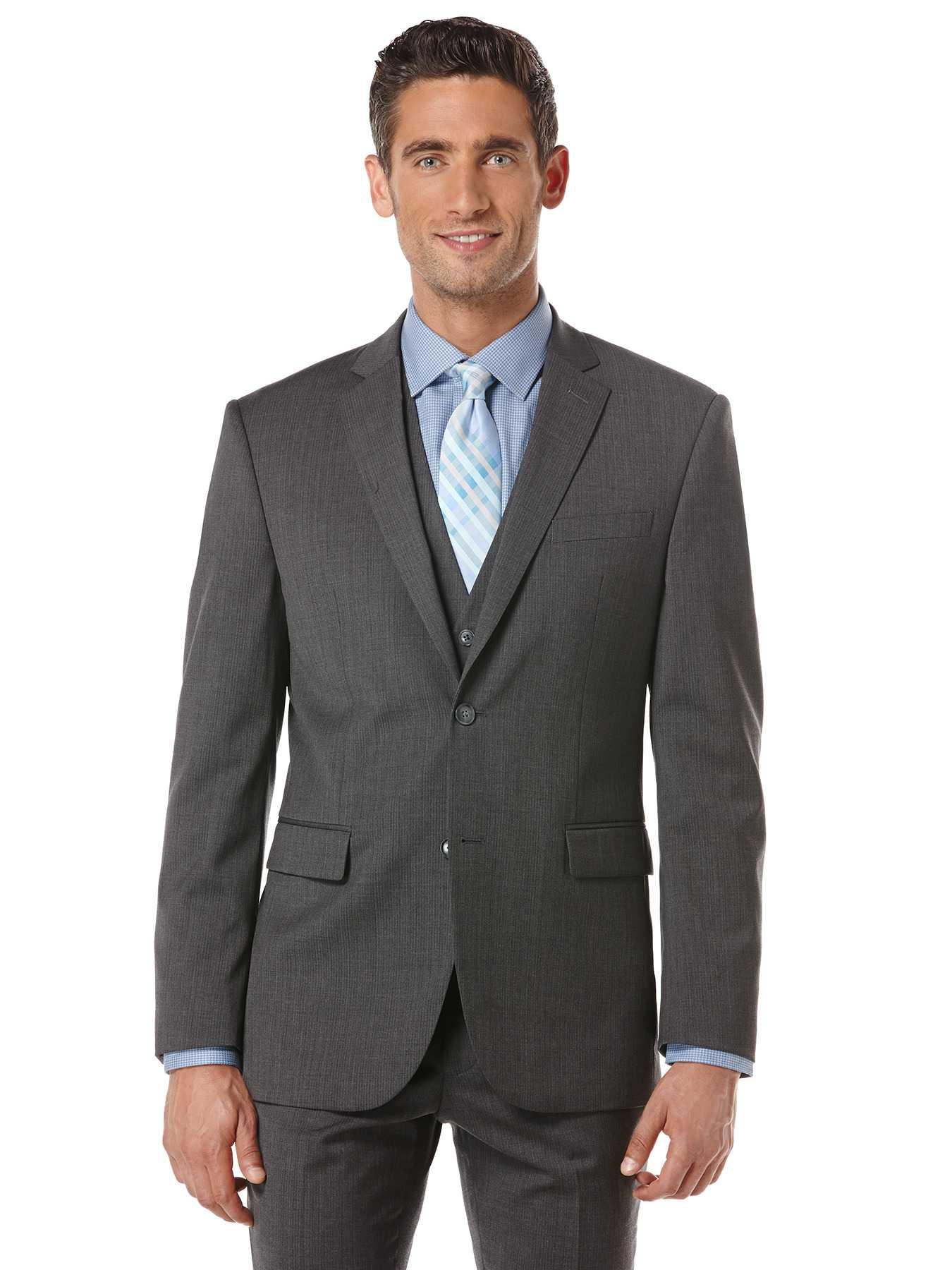 Perry Ellis Charcoal Stripe Suit Jacket