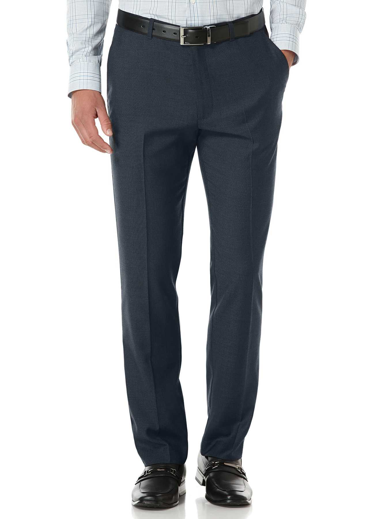Perry Ellis Slim Fit Corded Stripe Dress Pant