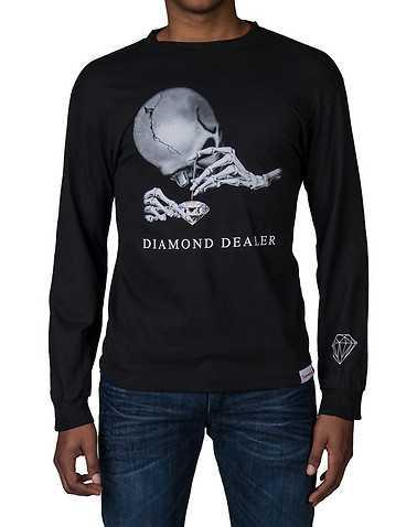 DIAMOND SUPPLY COMPANY MENS Black Clothing / Tops S