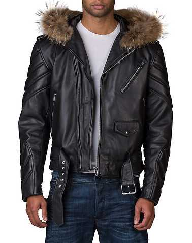 HUDSON OUTERWEAR MENS Black Clothing / Outerwear L