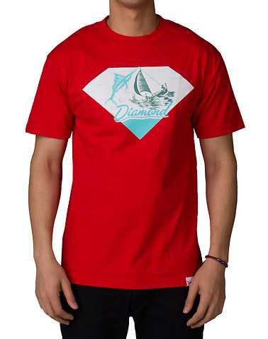 DIAMOND SUPPLY COMPANY MENS Red Clothing / Tops S