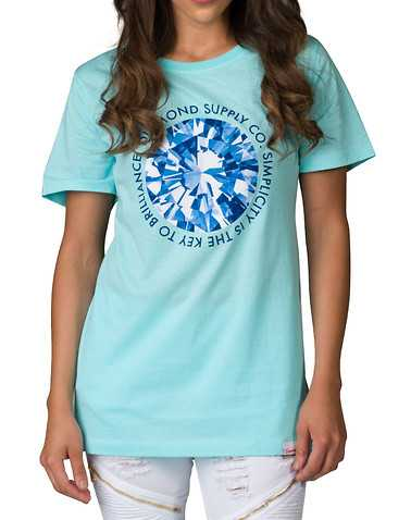 DIAMOND SUPPLY WOMEN WOMENSedium Blue Clothing / Tops
