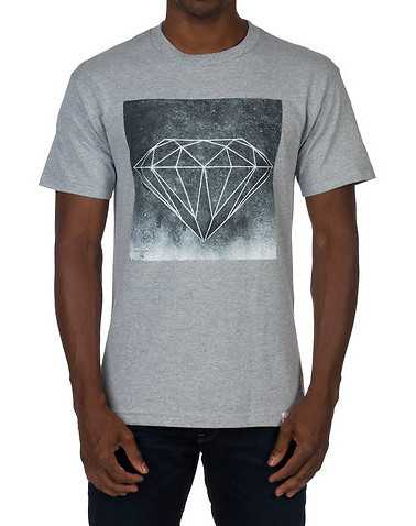 DIAMOND SUPPLY COMPANY MENS Grey Clothing / Tees and Polos S