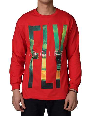 FLY SOCIETY MENS Red Clothing / Tops M