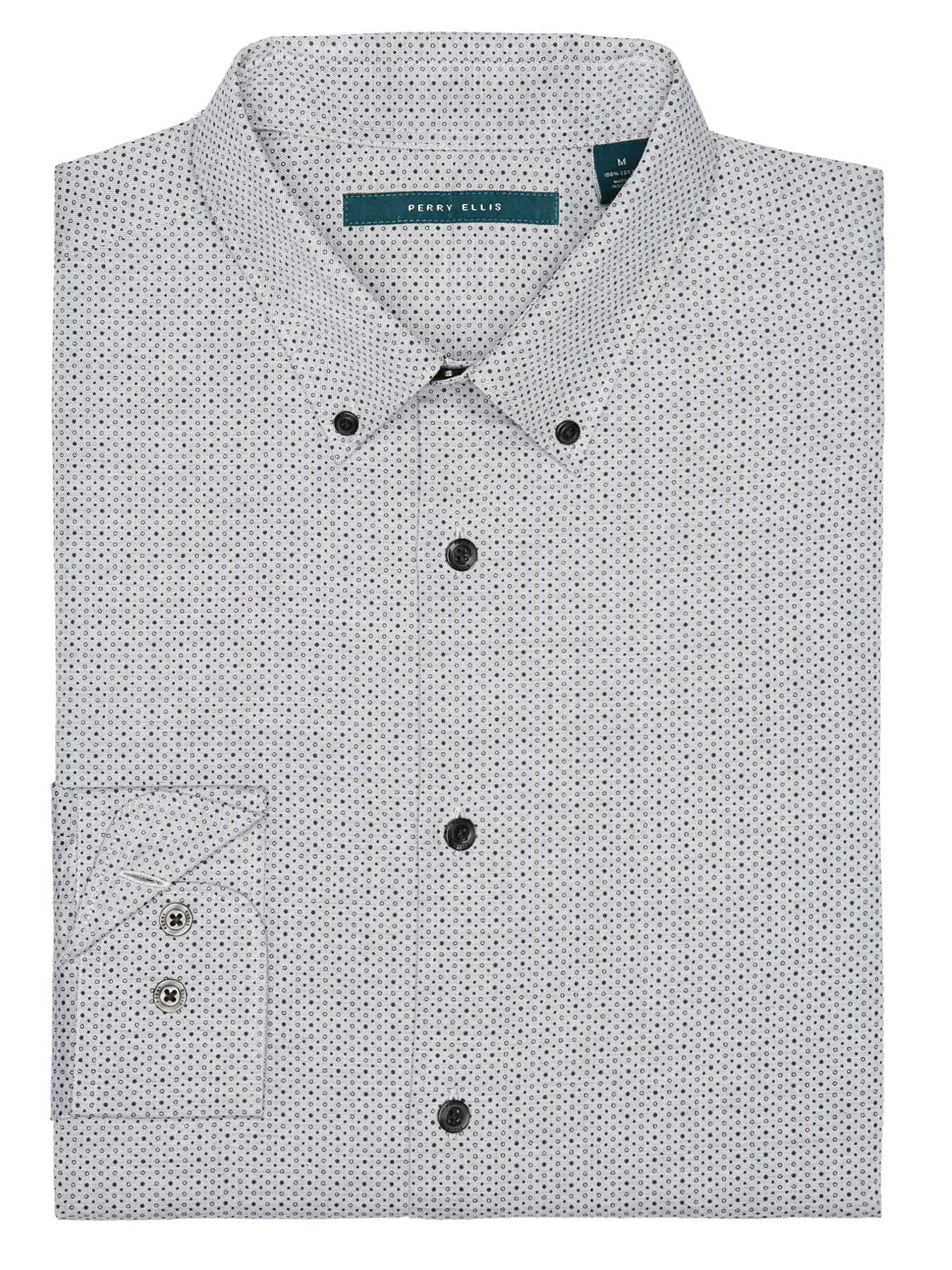 Perry Ellis Exclusive Heather Dot Print Shirt