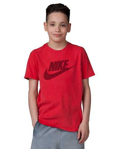 NIKE BOYS Red Clothing / Short Sleeve T-Shirts S