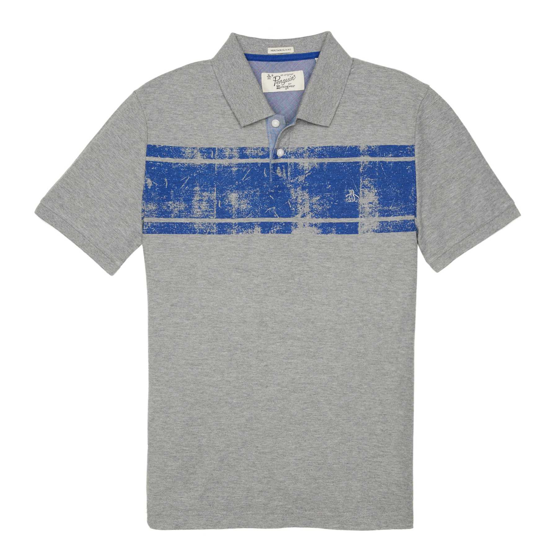 Original Penguin DISTRESSED STRIPE POLO