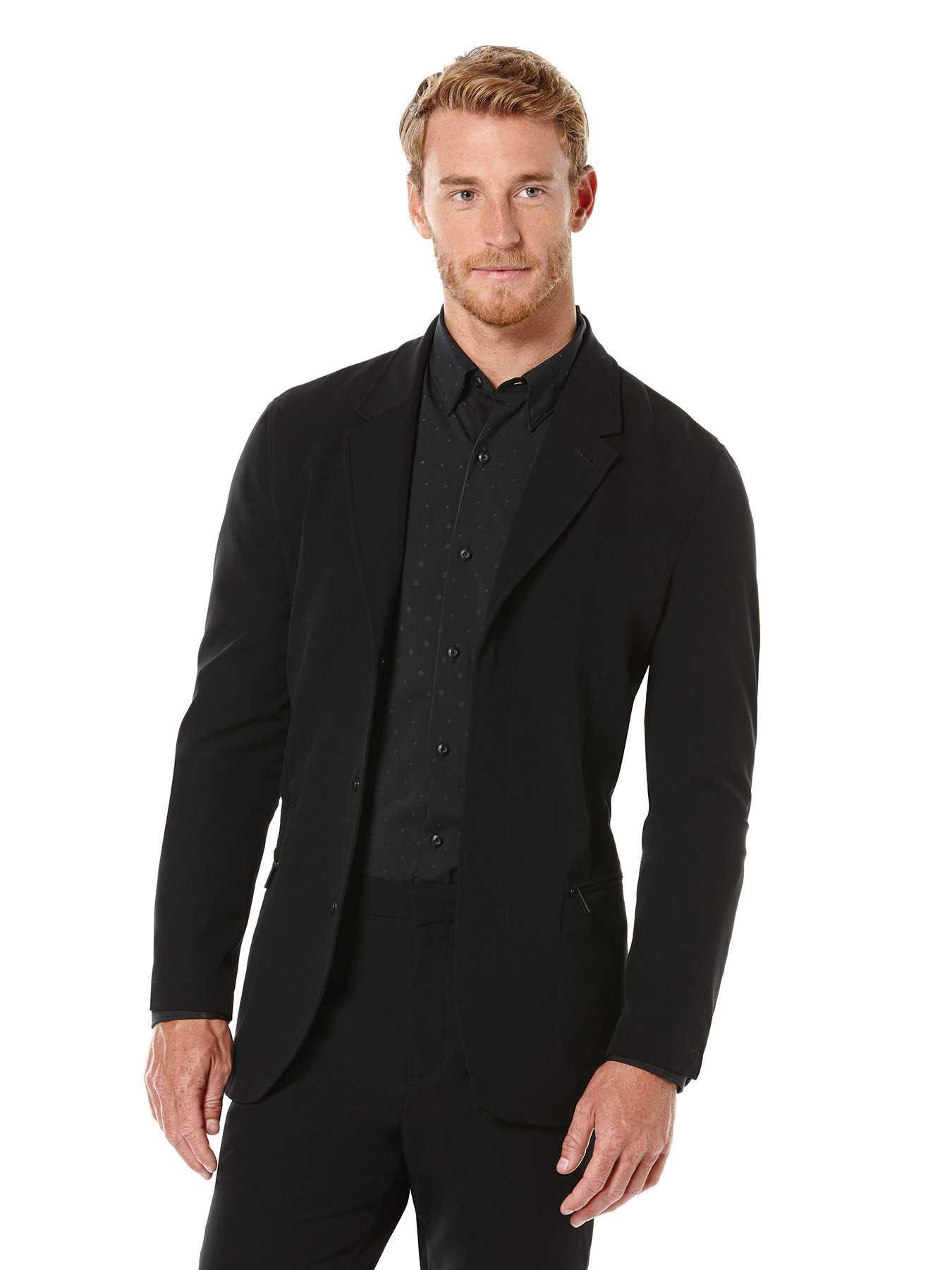 Perry Ellis Slim Fit Solid Active Jacket