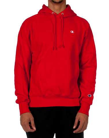 CHAMPION MENS Red Clothing / Sweatshirts L