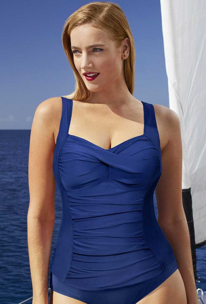 New Blue Twist-Front Top